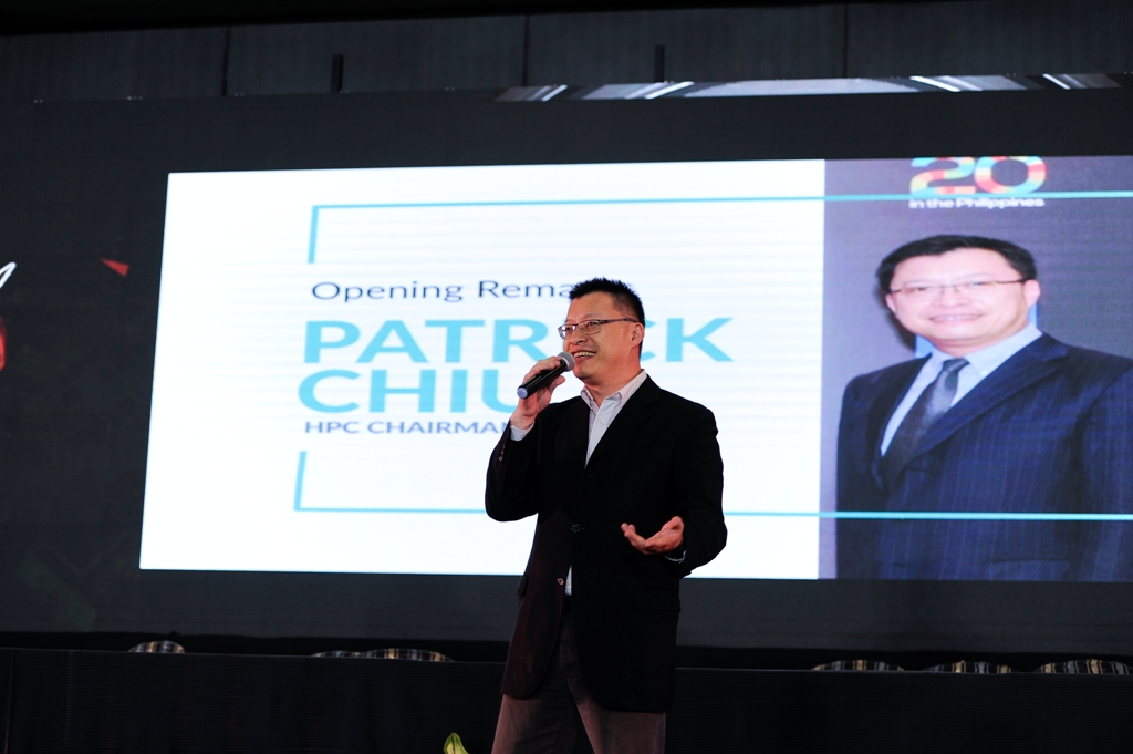 Mr. Patrick Chiu, the vibrant Chairman of HCG Philippines gives his opening remarks.